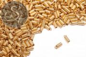 10 Stk. goldfarbene Spiral-Endkappen ~9mm-20