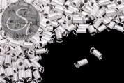 10 Stk. silberfarbene Spiral-Endkappen ~9mm-20