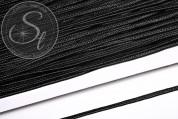 1m schwarzes Soutache-Band grob 3mm-20