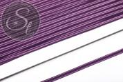 1m gedämpft dunkel-lilafarbenes Soutache-Band fein 3mm-20