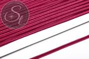 1m purpurrotes Soutache-Band fein 3mm-20
