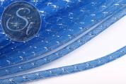 0,5 Meter blauer Netzschlauch mit silber-farbener Ader 8mm-20