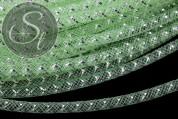 0,5 Meter hellgrüner Netzschlauch mit silberfarbener Vene 4mm-20