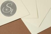 "1 Stk. Papier-Bogen ""Ivory"" ~10,5cm x 7cm-20"