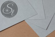 "1 Stk. Papier-Bogen ""Grey"" ~10,5cm x 7cm-20"