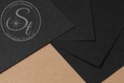"1 Stk. Papier-Bogen ""Black"" ~10,5cm x 7cm-20"