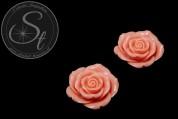 1 Stk. lachsfarbenes Blumen Cabochon 44mm-20