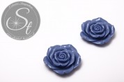 1 Stk. blaues Blumen Cabochon 44mm-20