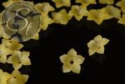 5 Stk. gelbe Acryl-Blüten frosted 34mm-20