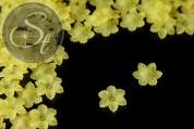 20 Stk. gelbe Acryl-Blüten frosted 21mm-20