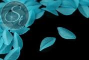 10 Stk. türkise Acryl-Blätter frosted 35mm-20