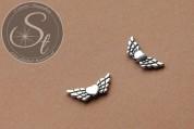 5 Stk. antik-silberfarbene Flügel-Perlen aus Metall 22mm-20