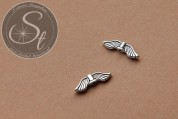 5 Stk. antik-silberfarbene Flügel-Perlen aus Metall 20mm-20