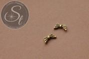 5 Stk. antik-goldfarbene Flügel-Perlen aus Metall 14mm-20