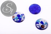 1 Stk. flaches rundes Lampwork Pendant 25mm-20