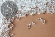 20 Stk. transparente Flügel-Perlen aus Acryl 20mm-20