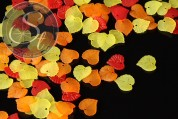 """20 Stk. Acryl-Blätter Mix """"Herbst"""" frosted 16mm-20"""