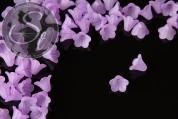 20 Stk. helllila Acryl-Blüten frosted 15mm-20