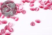 5 Stk. rosa tropfenförmige Cateye Cabochons 10mm-20
