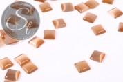 10 Stk. karamellfarbene quadratische Cateye Cabochons 8mm-20