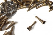 5 Stk. antik-bronzefarbene Metallspiralen Perlen ~24mm-20