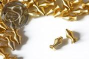 5 Stk. goldfarbene Metallspiralen Perlen ~15mm-20