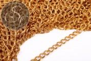 1 Meter doppelte goldfarbene twist Kette 10mm-20
