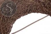 1 Meter ovale antik-bronzefarbene twist Kette 3mm-20