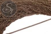 1 Meter ovale antik-bronzefarbene twist Kette 4mm-20